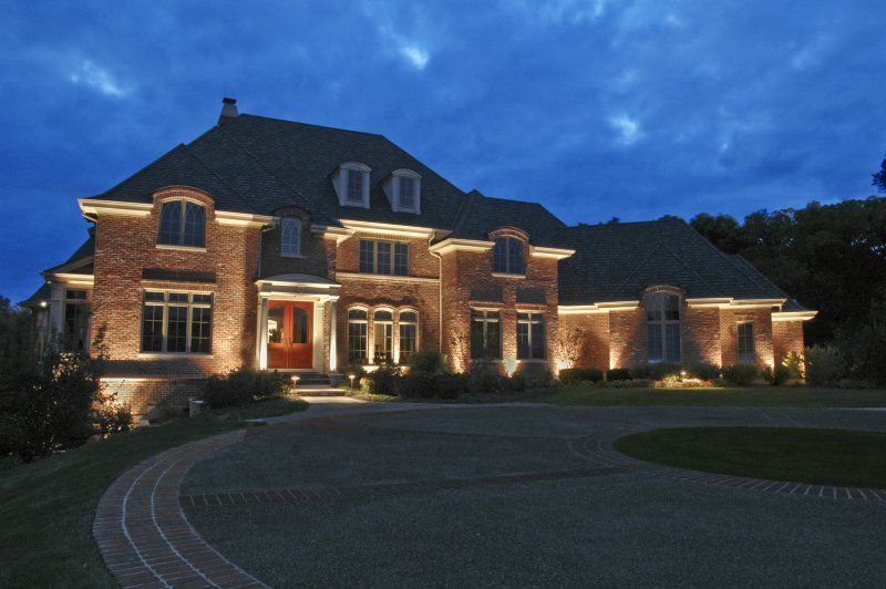 House Ground Lighting Outdoor Accents Lighting Outdoor Accents