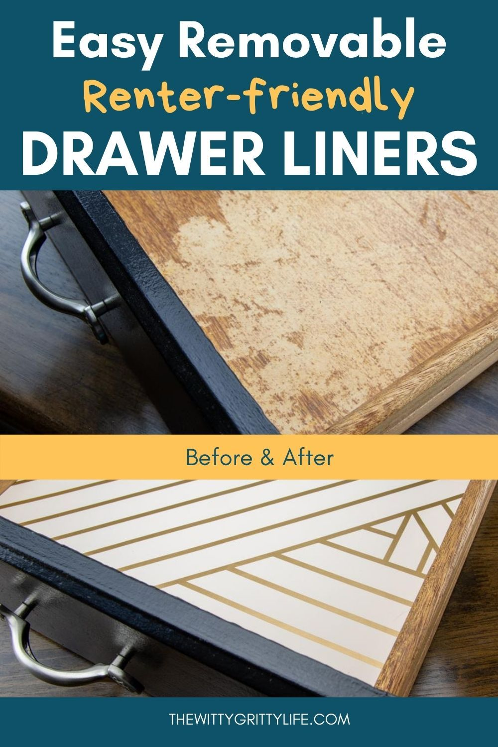 Super Easy Removable Drawer Liners In 2020 Drawer Liner Diy Drawer Liners Kitchen Drawer Liners
