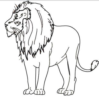 löwe ausmalbild zum malen und zeichnen | ausmalen