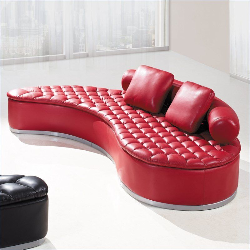 18 Stylish Modern Red Sectional Sofas | Unique furnishings | Red ...