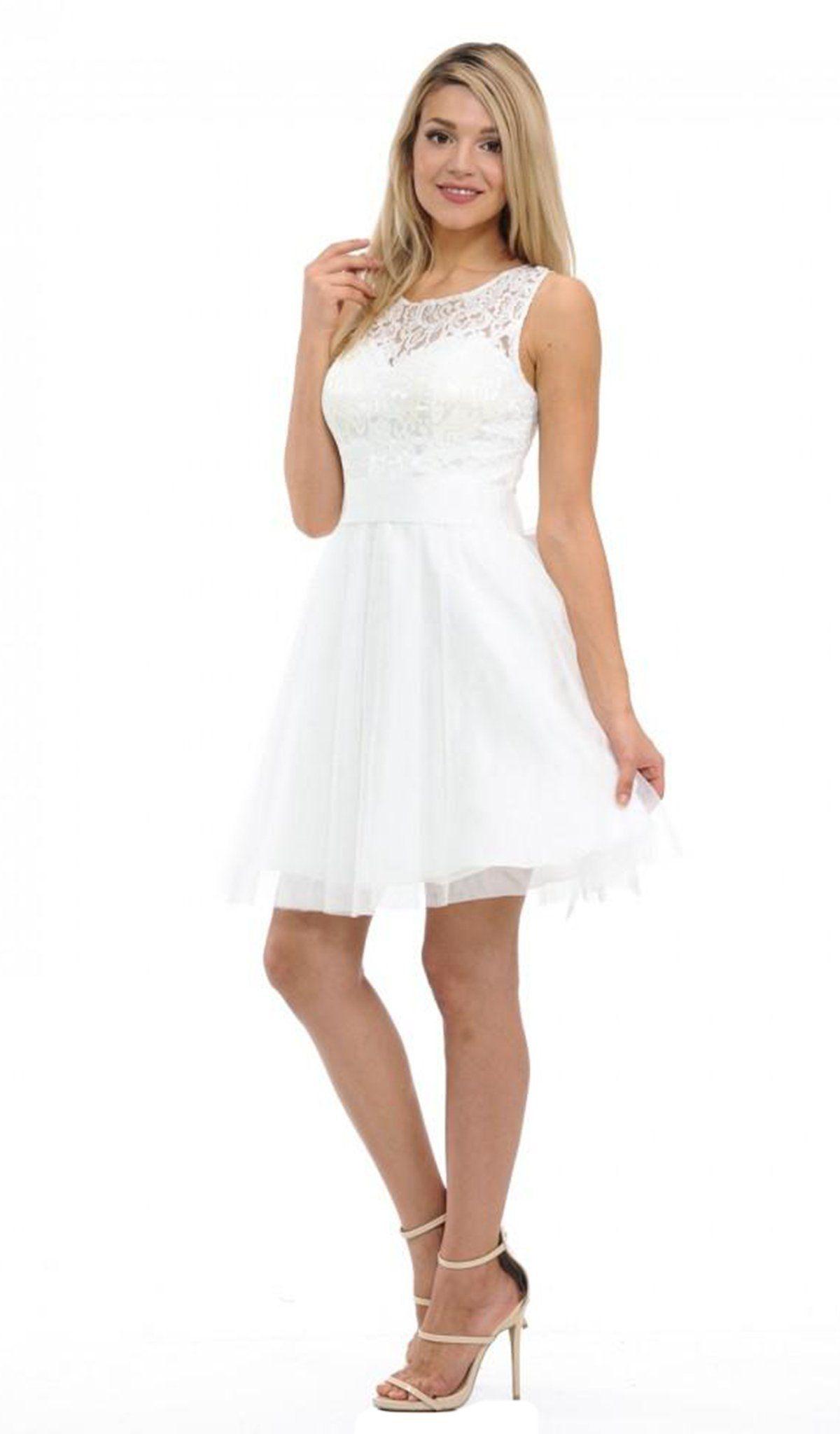Lenovia 8120 Illusion Jewel Ballerina Cocktail Dress White Lace Cocktail Dress Cocktail Dress Lace Dresses [ 2048 x 1200 Pixel ]