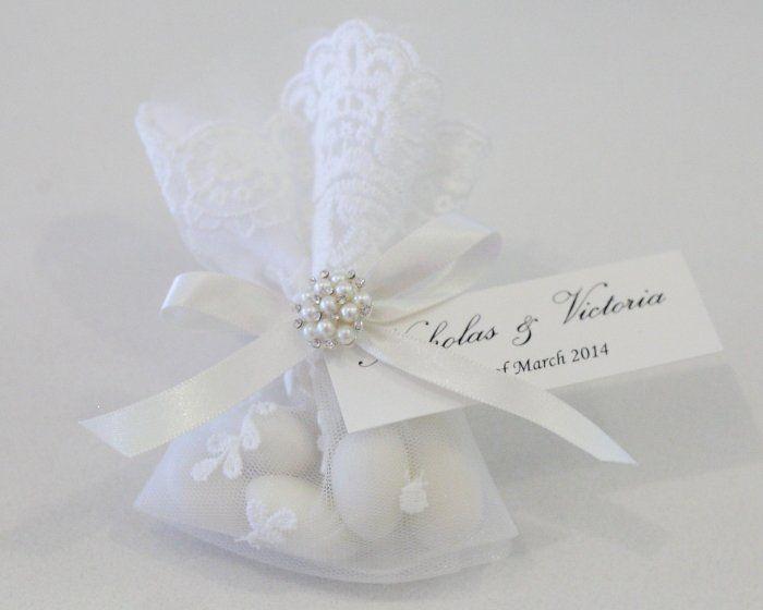 Wedding Bomboniere Gifts: White Lace Bag Wedding Bomboniere