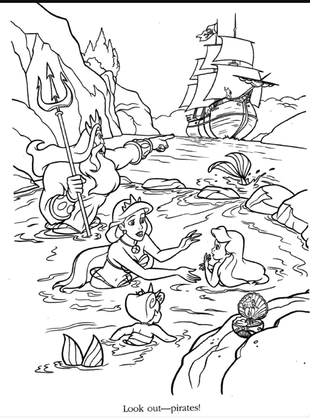 Ariel S Beginning Coloring Page Disney Coloring Pages Disney