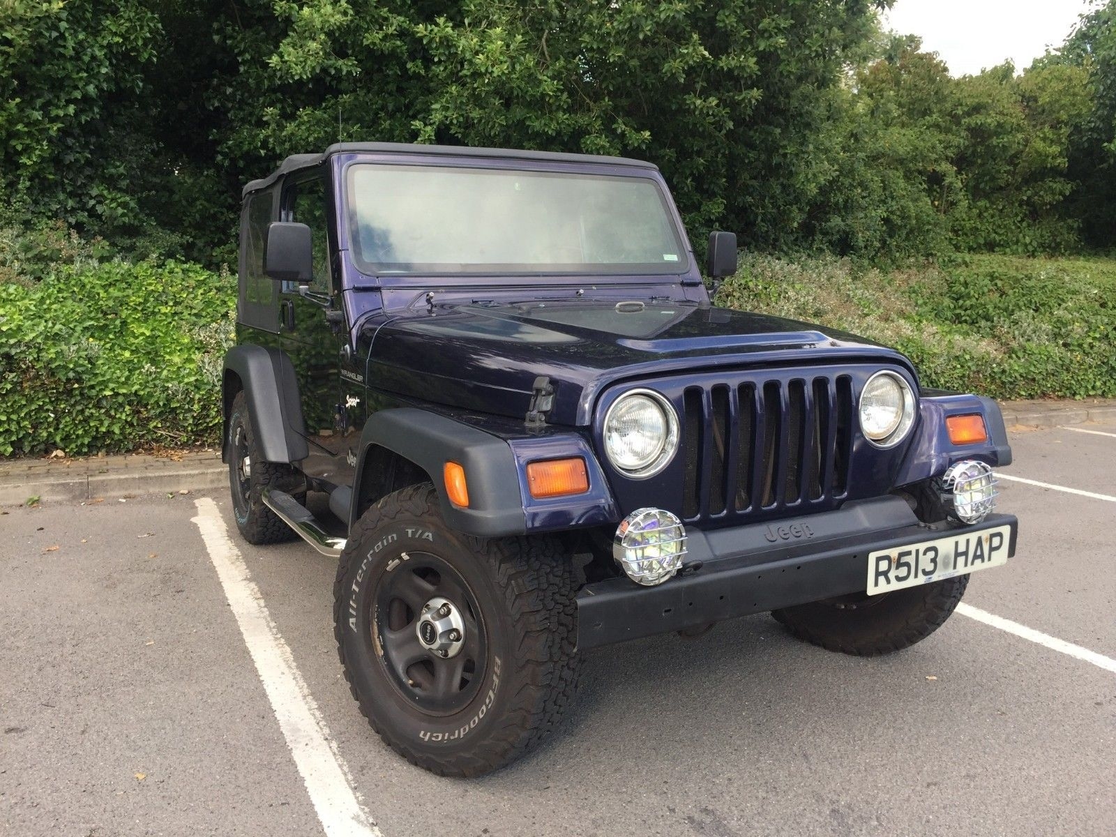 EBay: Jeep Wrangler TJ 2.5 Petrol Manual 1998 / R Soft Top 4x4 Off Road