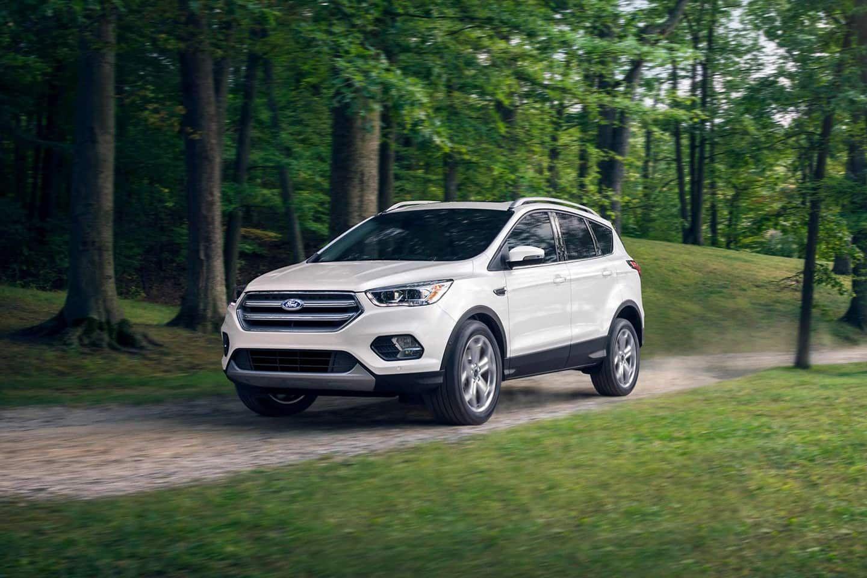2019 Ford Escape In Oxford White 2018 Escape Shown Ford Escape Ford Suv 2019 Ford