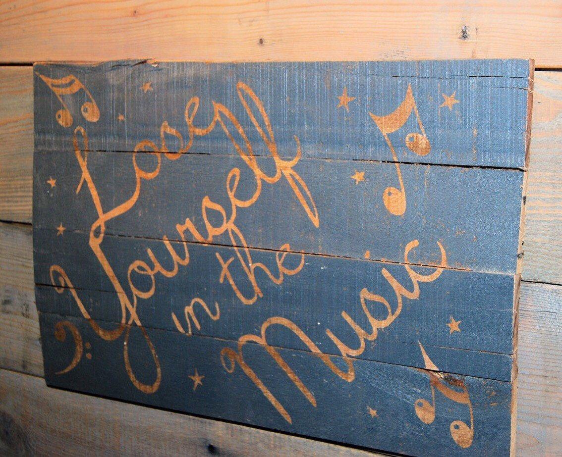 etsy pallet furniture. Music Pallet Wood Sign By CustomCreationsKLJ On Etsy Furniture