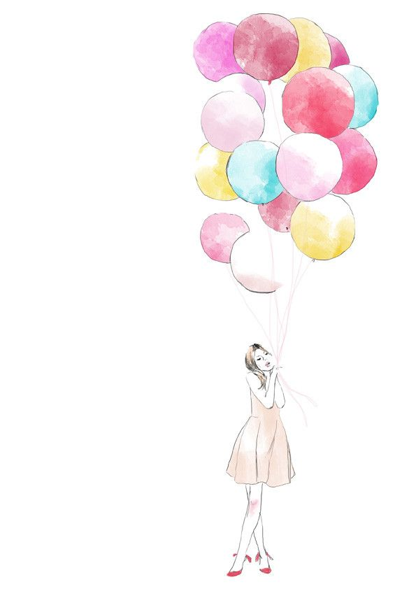 clemence poesy with balloons illustrated version      so