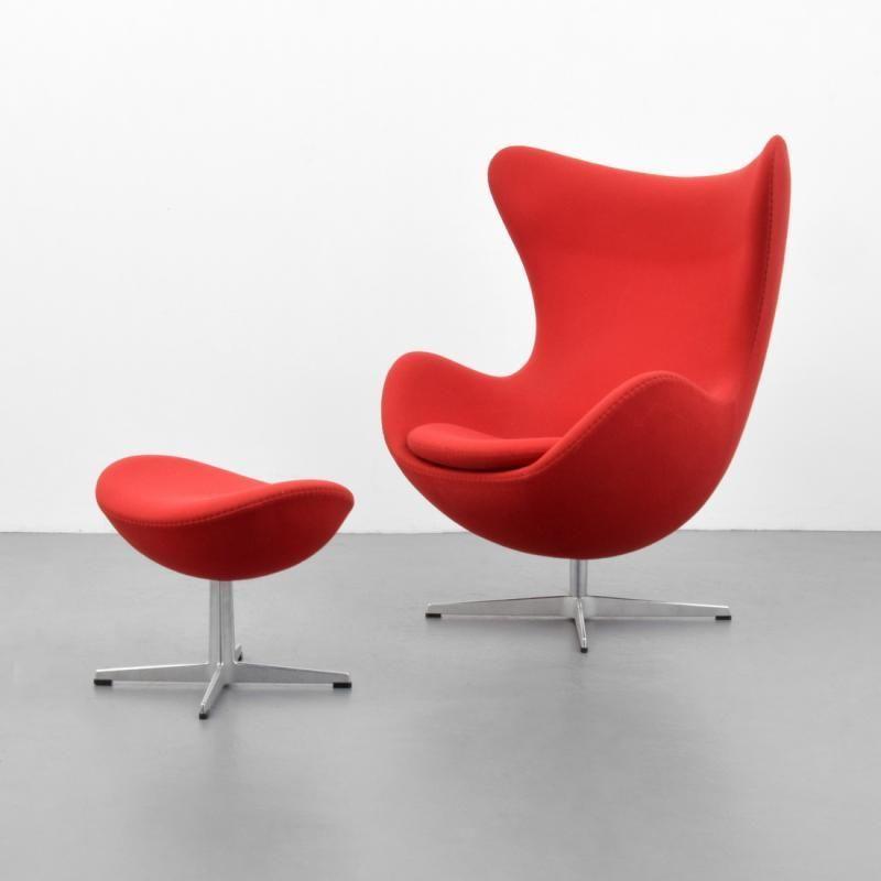 Arne Jacobsen, Egg Chair U0026 Ottoman #EggChair