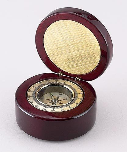 Amazon Com Round Rosewood Finish Box With Compass And Engraving