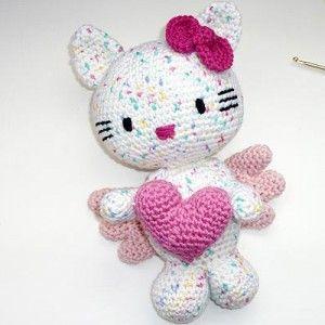 Crochet Pattern * Hello Kitty Angel with Heart Amigurumi ...