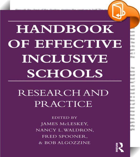 Handbook of Effective Inclusive Schools  Over the last decade, the - fresh blueprint education books