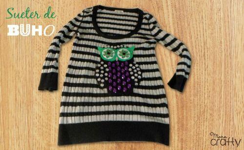 Suéter de búho