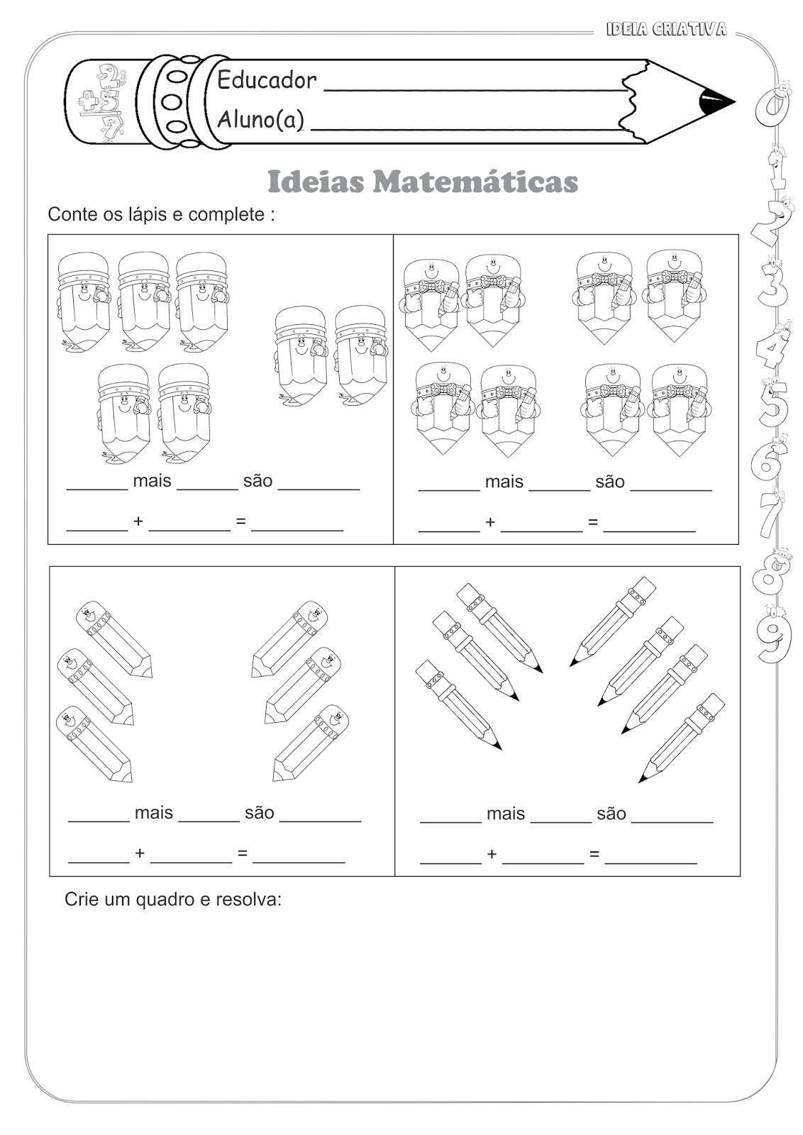 Conhecido Atividades Educativas Matemática Operações Básicas (Adição) para  AA64
