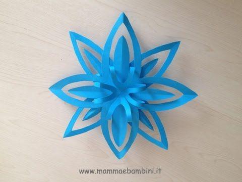 Fiocchi Di Neve Di Carta Facili : Come fare i fiocchi di neve di carta how to do paper snowflakes