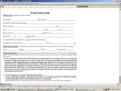 porkerrun release form How to Run a Poker Run u2013 A Fairly Frugal - release form
