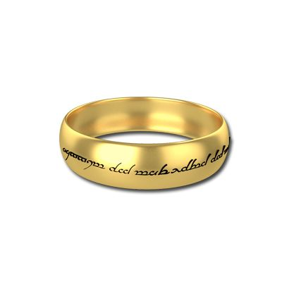 Personalized The One Ring In Silver One Ring Sterling Silver Wedding Band Rings