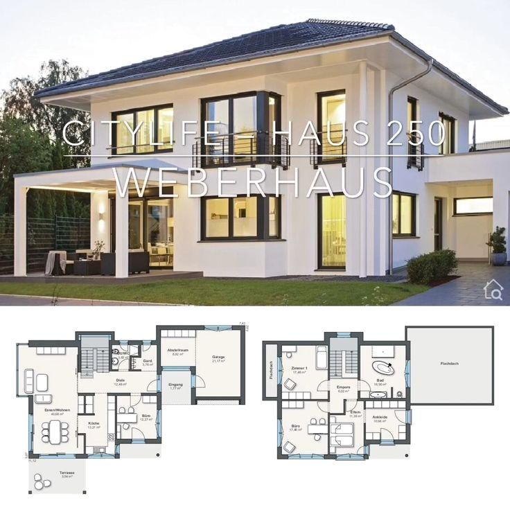 #home  #house  #houseplan  #houseplans  #homesweethome  #dreamhome  #newhome  #newhouse  #homedesign  #houseideas  #housegoals  #architecture  #architect  #arquitectura  #hausbaudirekt   #Villa #with Modern Villa with Garage House Plans Contemporary European Style - Architecture Design Floor Plan City Life Haus 250 Layout by Bien Zenker - Dream Home Ideas with Open Concept & 2 Story - Inspiration Blueprint Drawing and Interior with 4 Bedroom and Garden Exterior - Arquitectura moderna casas p