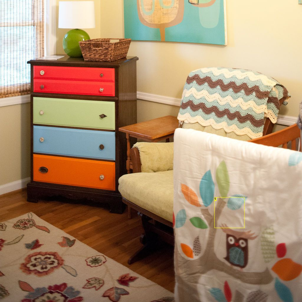 Dresser with painted drawers