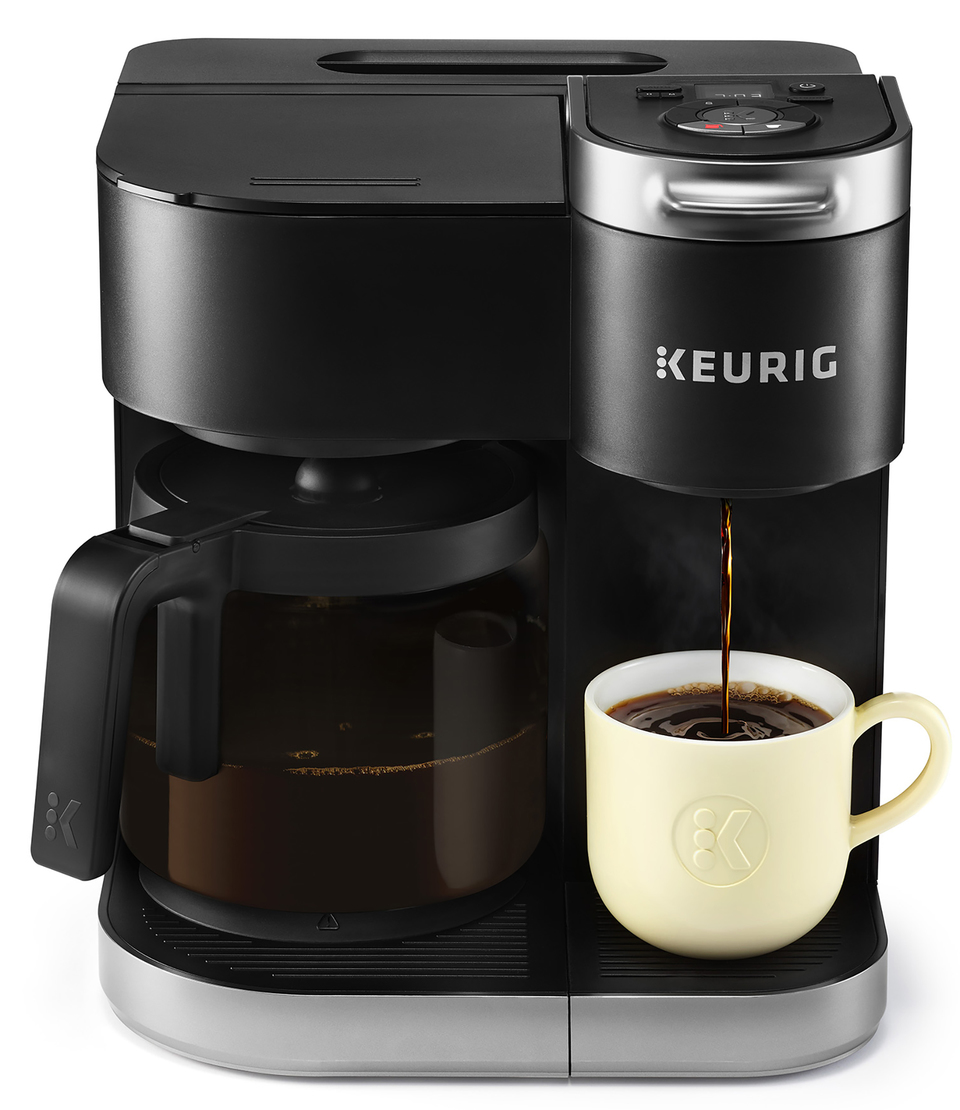 Keurig K Duo Essentials Coffee Maker With Single Serve K Cup Pod And 12 Cup Carafe Brewer Black Walmart Com Single Coffee Maker Keurig Coffee Makers Keurig Coffee