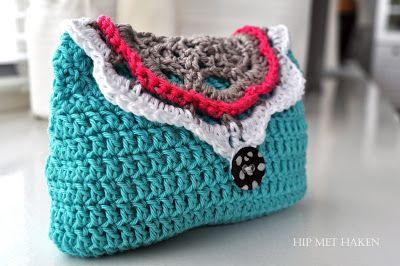 Crochet clutch purse / Gehaakte portemonnee. Free pattern.