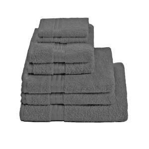 Restmor 100% Ägyptische Baumwolle 7 Stück Premium Handtuchset   Kohle:  Image 1