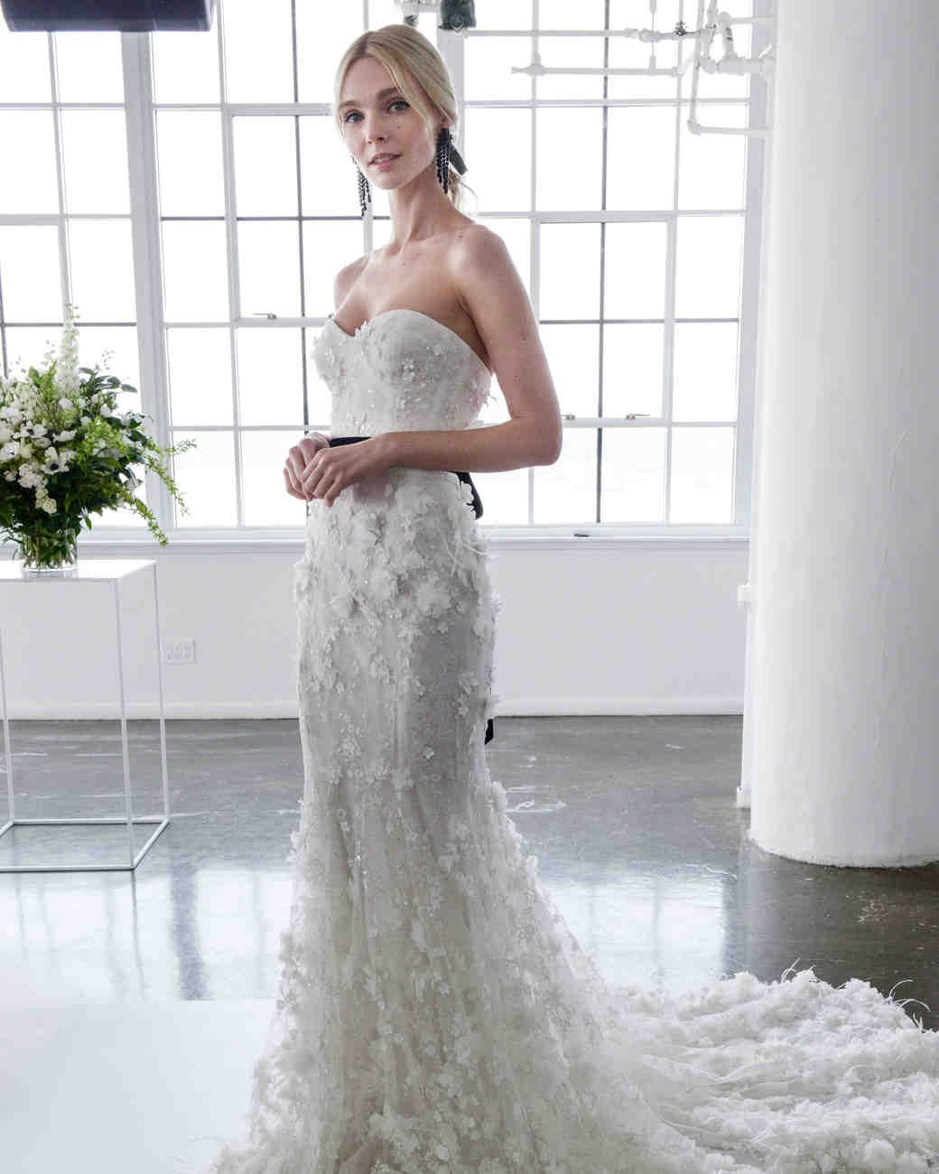 Marchesa Spring 2018 Wedding Dress Collection Martha Weddings Strapless Mermaid