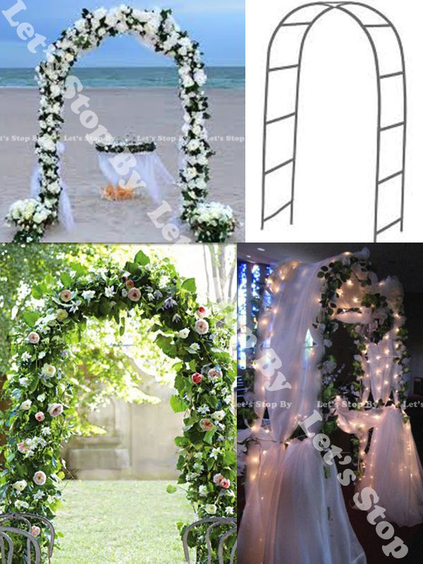 Details About New 90 White Metal Arch Wedding Party Bridal Prom