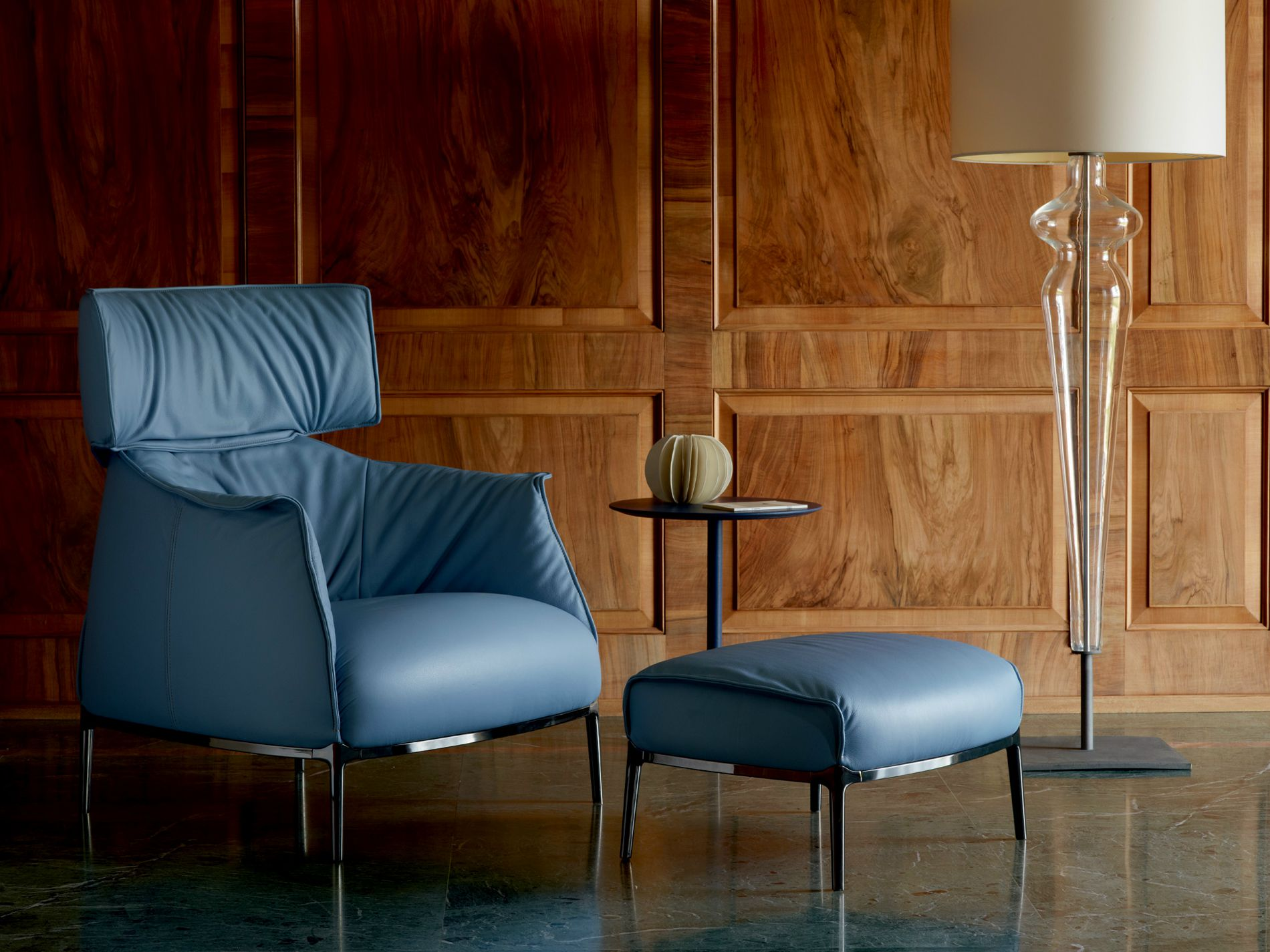 Poltrona Frau Design Bank.Archibald Armchair With Headrest By Poltrona Frau Design Jean