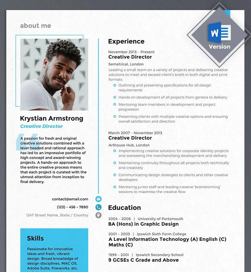 40 Best 2020's Creative Resume/CV Templates Free