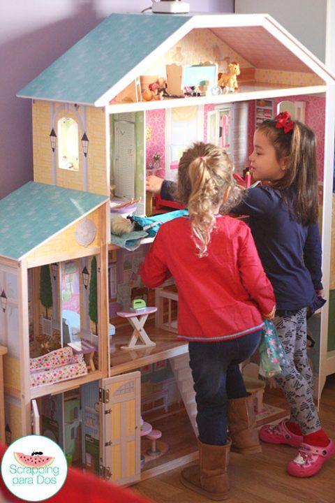 Casa de Muñecas Mansión Majestuosa de Kidkraft   Doll houses, Wooden ...