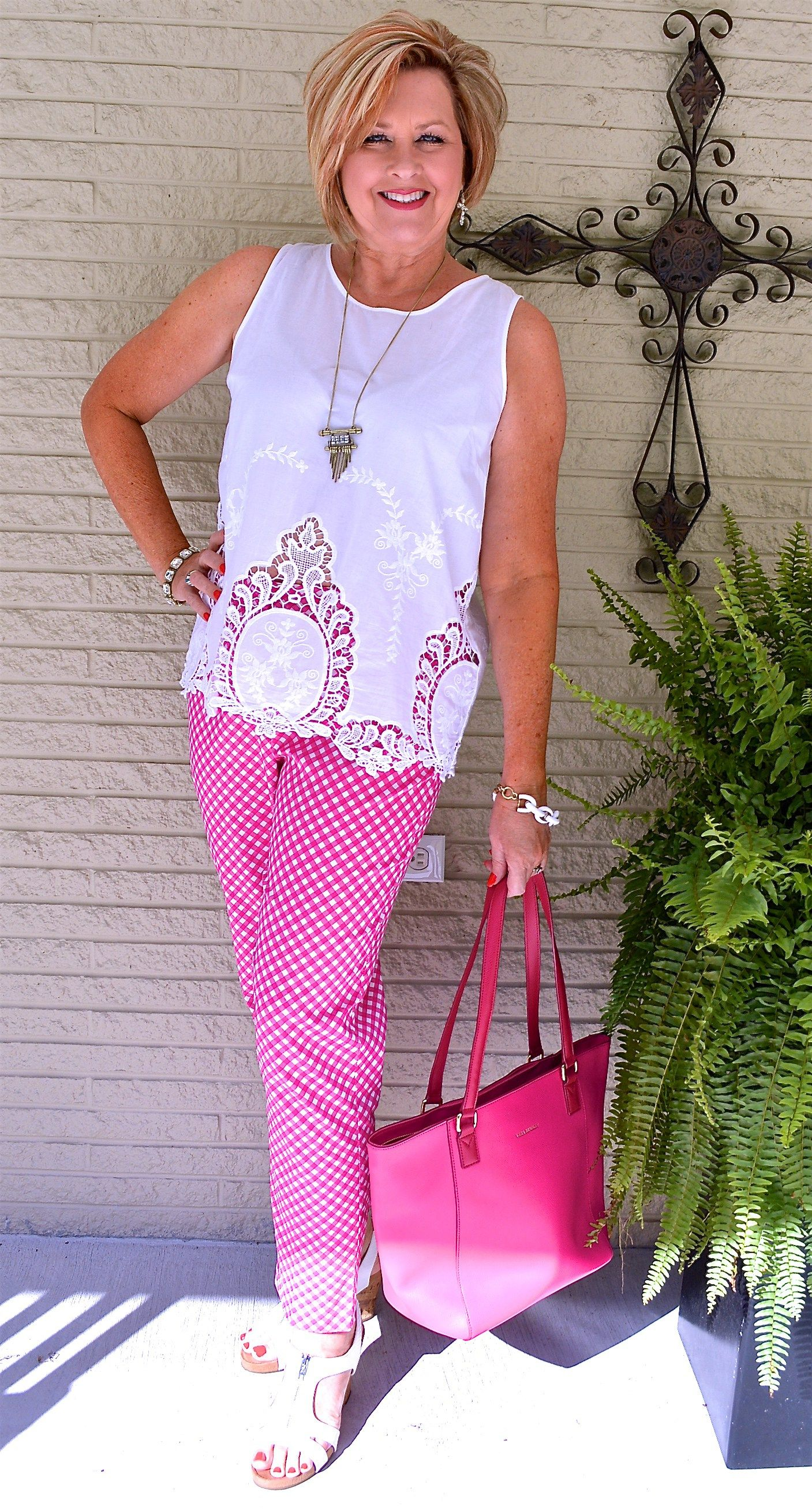 Picnic Pants And A Tablecloth Top 50 Is Not Old Clothes For Women Over 50 Over 50 Womens Fashion Fashion [ 2615 x 1407 Pixel ]