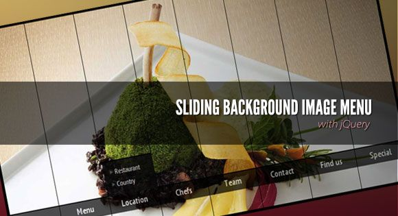 Sliding Background Image Menu with jQuery   HTML5 - CSS3