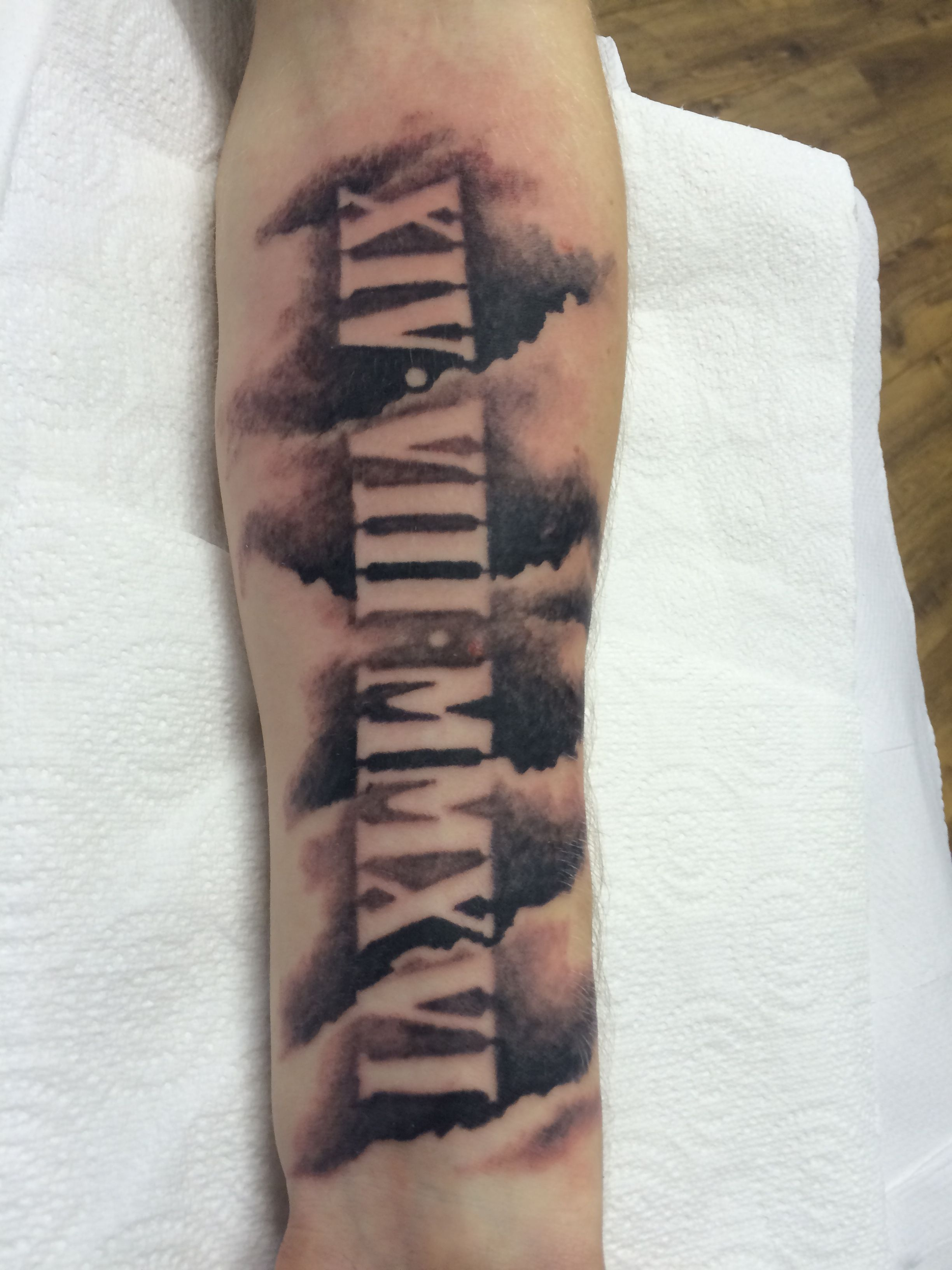 Are Roman Numeral Tattoos Lame: Roman Numeral And Cloud Tattoo Done By Travis Allen At