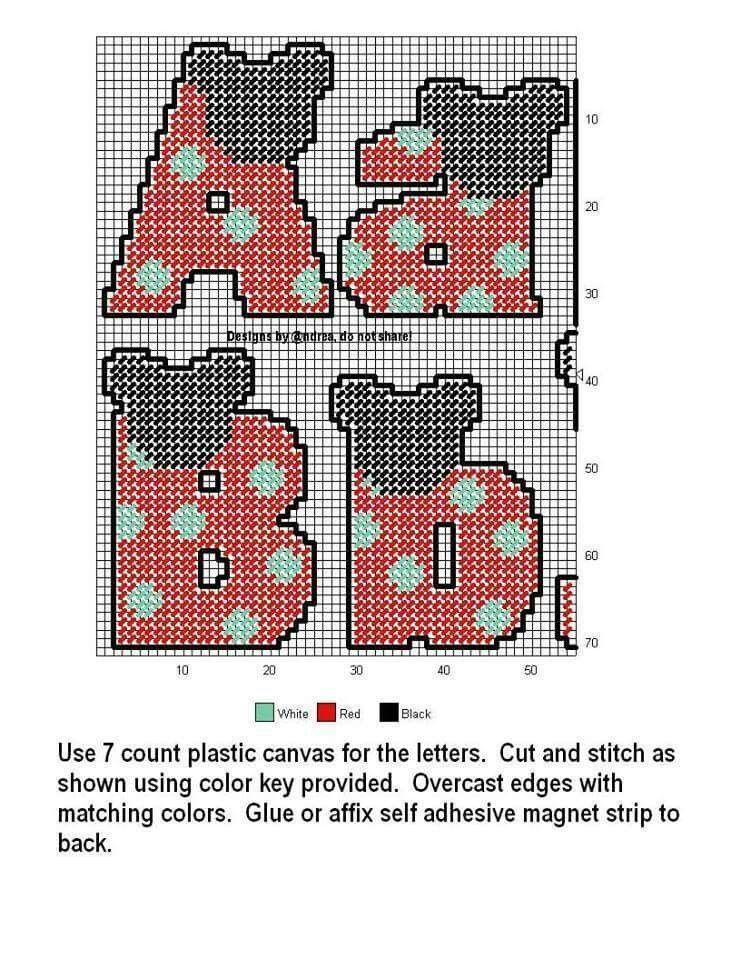 Pin von Lana Wytaske auf Letters In Plastic Canvas & Numbers | Pinterest