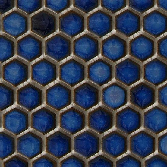 Nemo Tileu0027s Glossy Cobalt Hex Tile Black And White Is A Bit Predictable.  Iu0027. Blue Bathroom ... Amazing Design