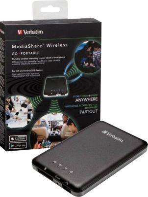 Verbatim MediaShare Wireless Storage Network/Streaming Media Player perfect for my iPad, but use a different app with to unleash its true power/- perfek vir my iPad, kan aflaai en oplaai.  ALLES!