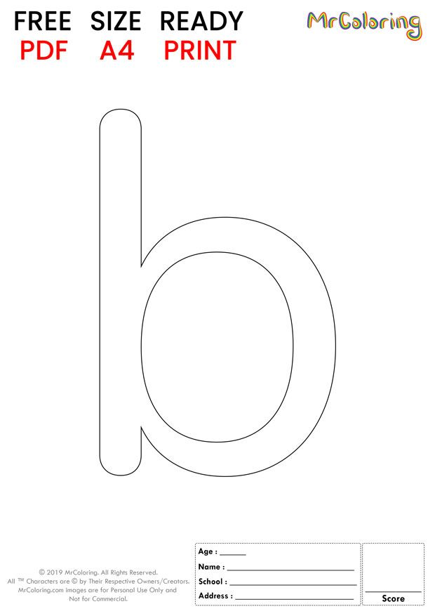 Alphabet Letter B Coloring Pages Lowercase Round For Kids Alphabet Letterb Colori Letter B Coloring Pages Free Printable Alphabet Letters Lettering Alphabet