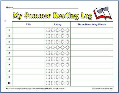 Free Summer Reading Log | Reading logs, Summer and Classroom freebies
