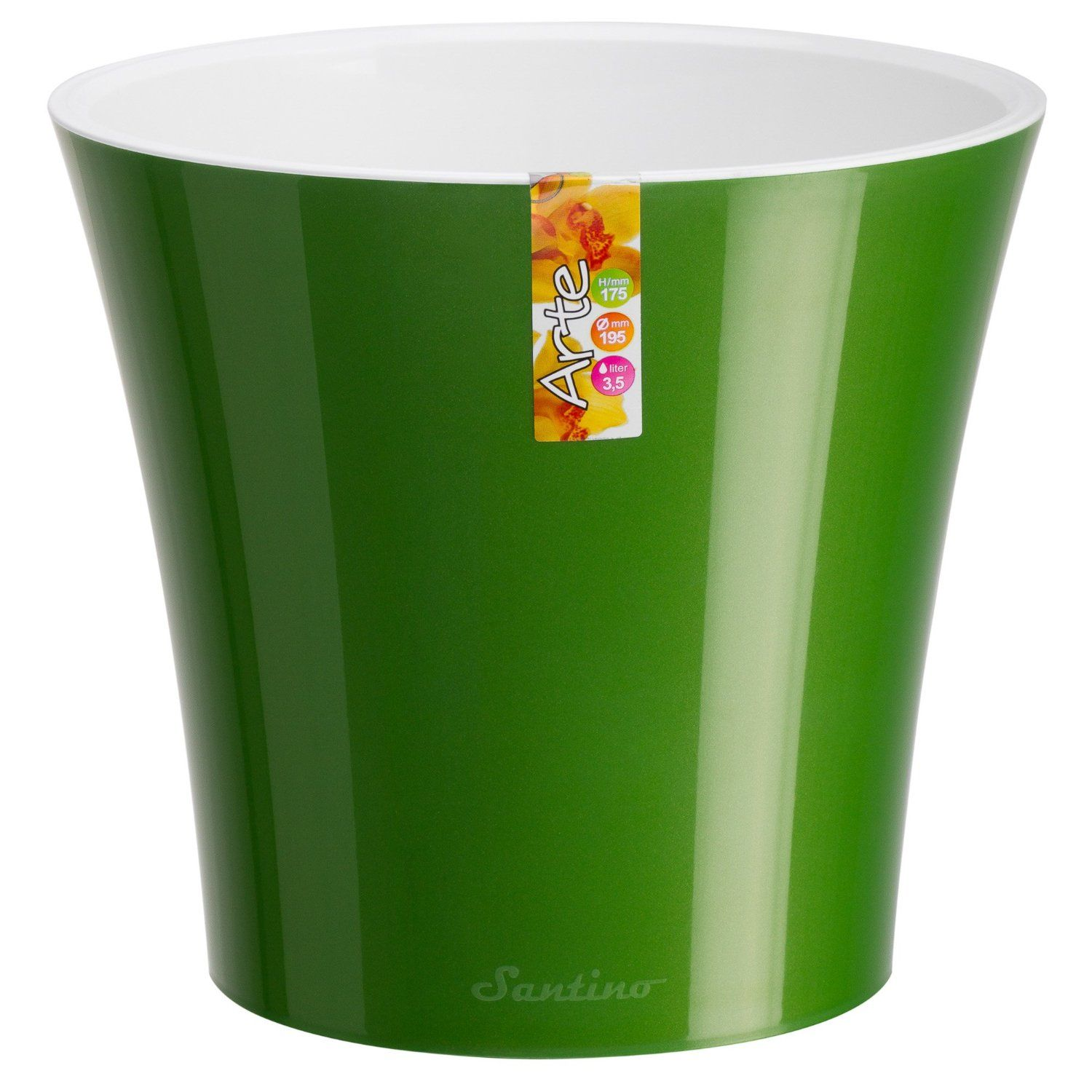 Santino Self Watering Planter Arte Inch Green Gold/White Flower Pot *** See  This Awesome Image : Planters Pots Containers