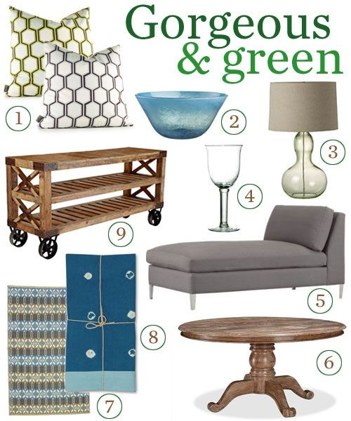 Shopping for home products that are pretty inside and out is easier than it ever has been. Here's a small sampling of furnishings and accessories that are as easy on the Earth as they are on the eyes.