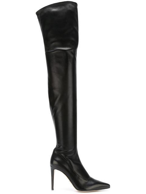 Sergio Rossi smooth knee-length boots - Black farfetch neri Pelle Venta Barata 100% Garantizado Asequible Para La Venta Precio De Descuento PLUAuA