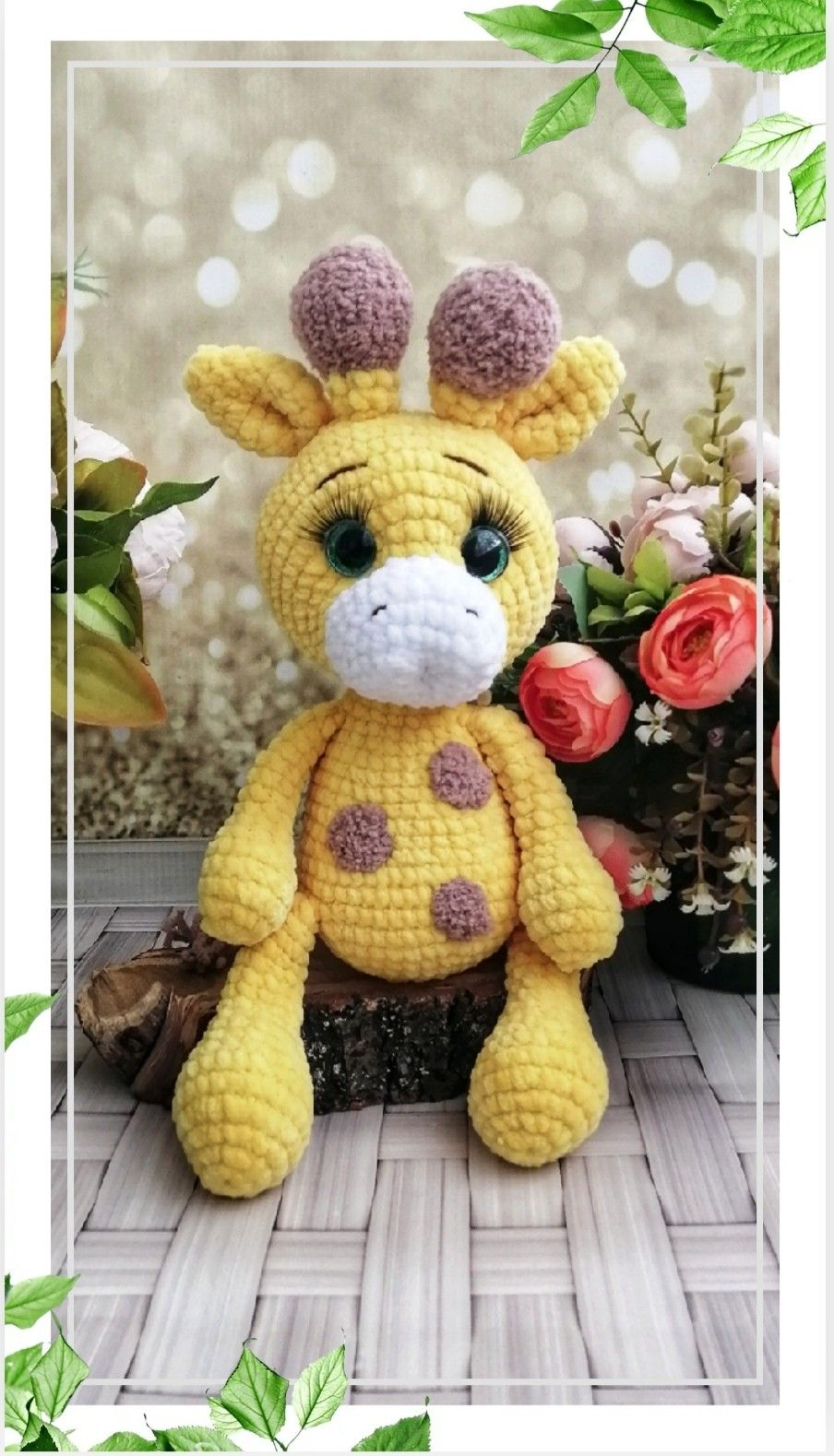 Crochet Giraffe PATTERN.� Amigurumi giraffe pattern pdf. Crochet jungle.
