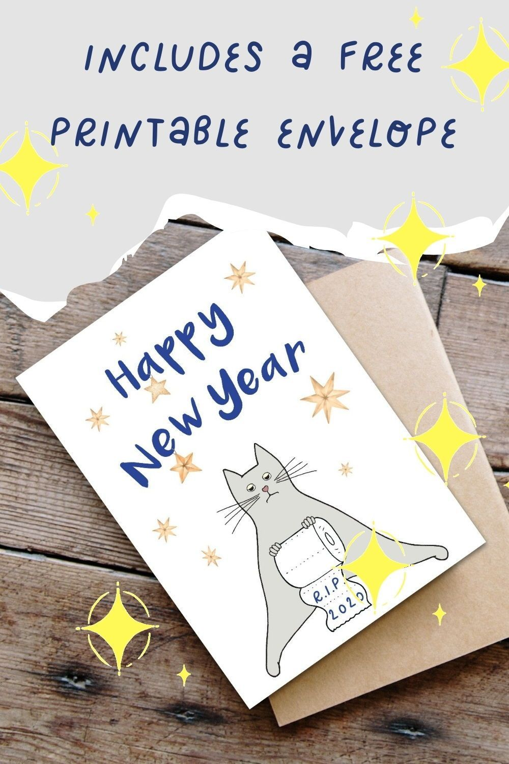 Happy New Year Card 2021 Printable New Years Greeting Card Etsy New Year Greeting Cards New Year Card Happy New Year Cards