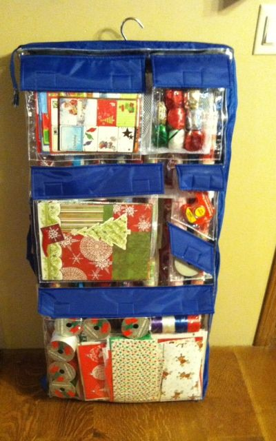 Wrap It The Best Wrapping Paper Organizer Holds All Your Wrapping Paper Boxes Bags Gift Wrap Organization Wrapping Paper Organization Wrapping Paper Storage