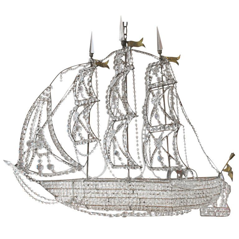 Italian Crystal Ship Chandelier 1stdibs Com With Images