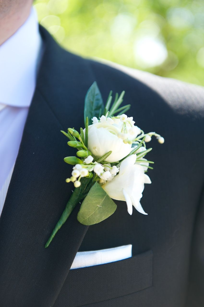 Beautiful Ivory Roses Lily Of The Valley Wedding Men Groom