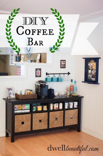 Tea and Coffee Bar Decor, Home decor, Home salon