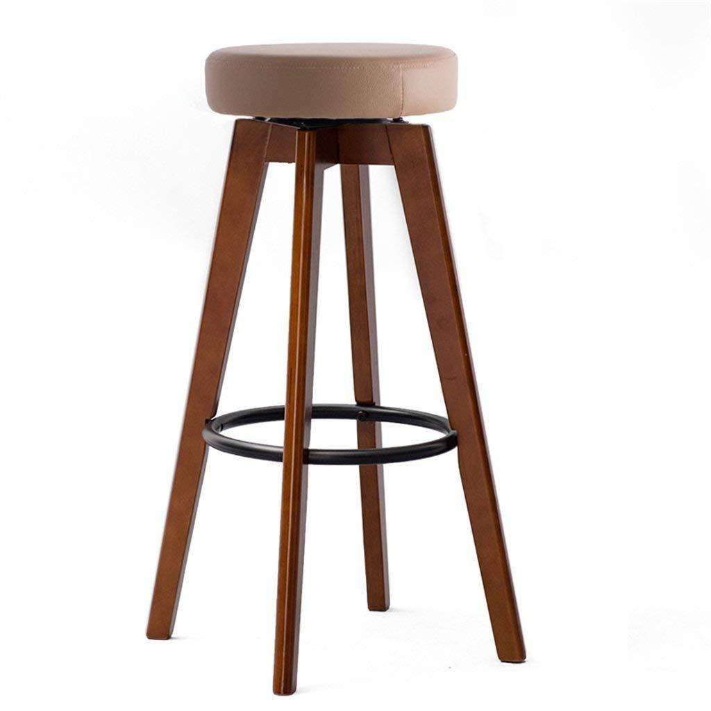 Chuan Han Bar Stool Counter Chair Wooden Bar Chair Iron Footstool