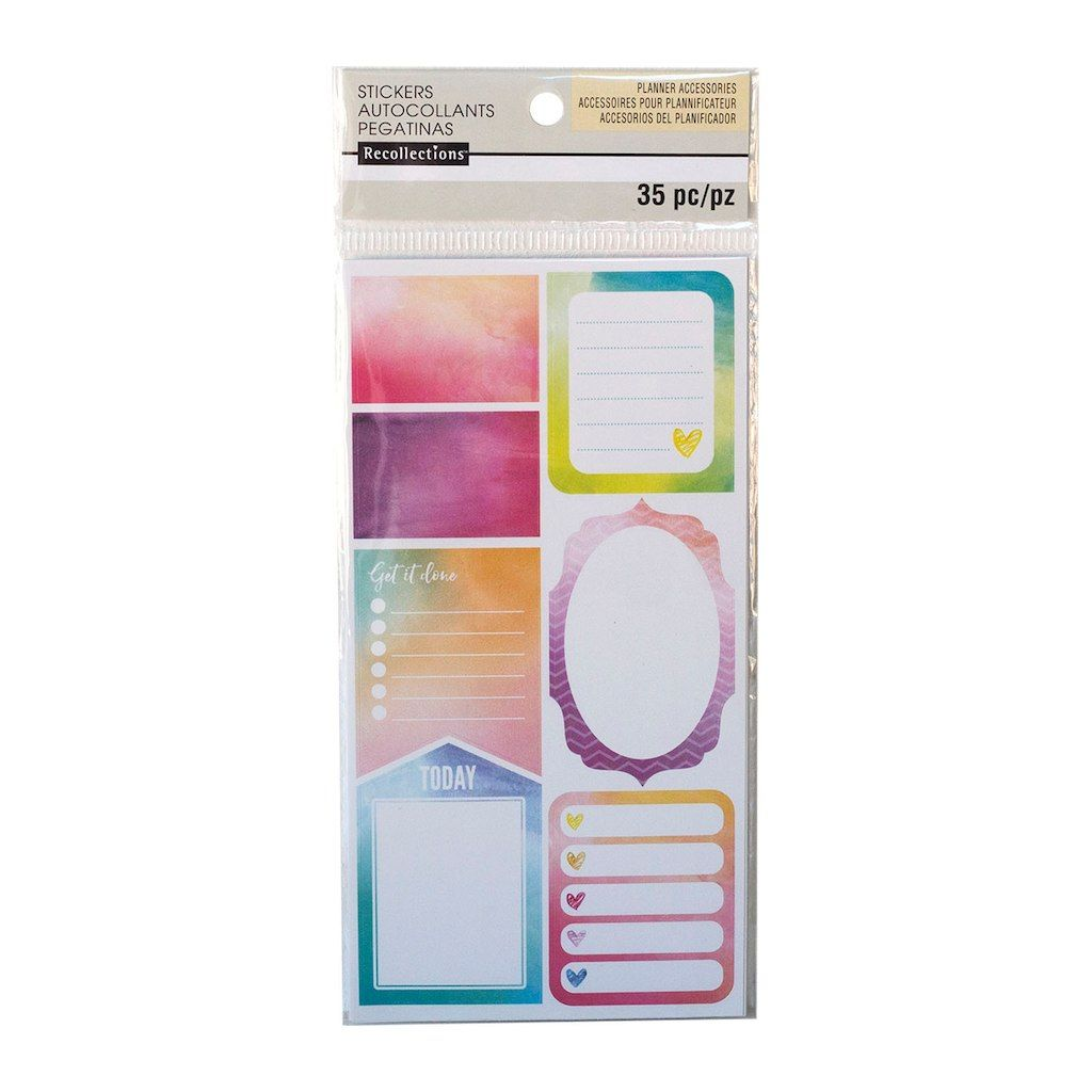 Watercolor Journal Label Stickers By Recollections Michael S