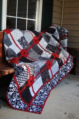 Red And Black Quilt Patterns : black, quilt, patterns, Karen's, Creations, Quilts,, White, Black, Quilts